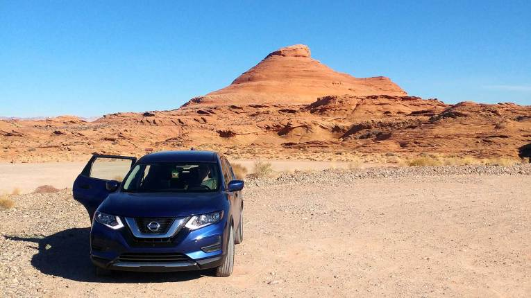 Roguetrippers visited the Utah desert and canyons on a road trip in Nissan Rogue in 2017