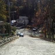 Steep street is a true test of your emergency brakes.