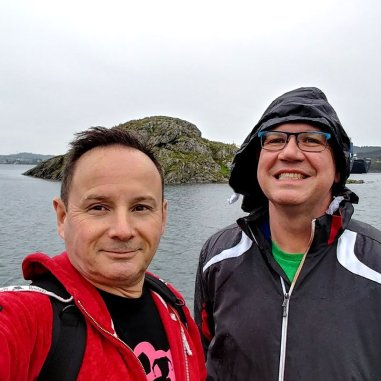 Roguetrippers visit the viking settlement in Norway in the rain, and wind.
