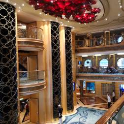 The Gorgeous atrium of the Disney Cruise ship