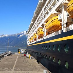 The Disney Wonder in Port of Alaska