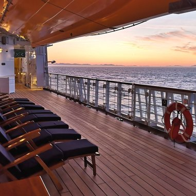 Roguetrippers enjoyed the view and relaxing on the Deck of their Disney Cruise