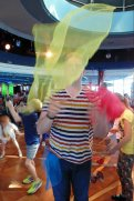 roguetrippers learn circus performing when they stay aboard cruise ship