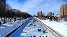 Ottawa's winterlude Rideau Canal Skateway