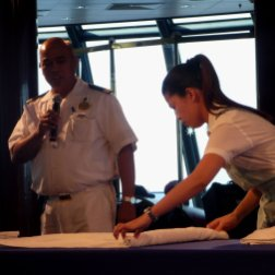 roguetrippers loved learning towel folding when stay aboard cruise ship