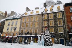 inside the Vieux Quebec during Winter Carnaval