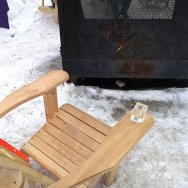 Roguetrippers got to sit by the fire with a cocktail during Carnaval de Quebec.