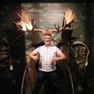 Nick-Kulnies-wears-Moose-Antlers-Science-North