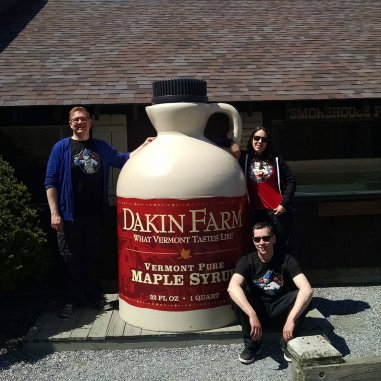World's Largest Maple Syrup Jug is at Dakin Farm in Vermont.