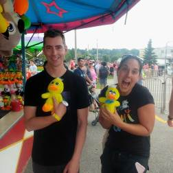 Brad & Heather Parsons at the Carnival midway Rubber Duck Festival