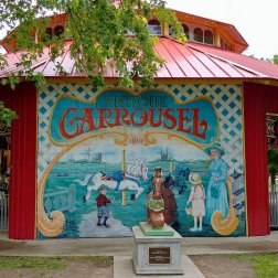 An Antique Herschell Carrousel in the centrepiece of Riverside Park in Guelph