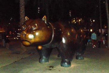 El gat de botero on the LA Rambla in Barcelona