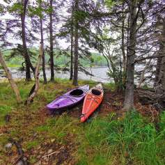 Kayaking in the many lakes around Cape Breton Island