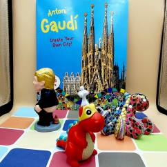various souvenirs from around Barcelona can be found on La Rambla