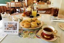 roguetrippers enjoy English tea at Birkinshaws tea Room in Amherst, Nova Scotia