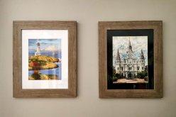 Framed prints Travel souvenirs.