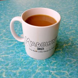 Roguetrippers Enjoy a cup of coffee at Madelyns Diner in Stratford