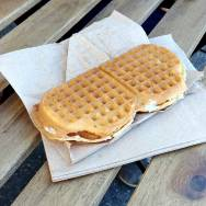 Roguetrippers enjoyed the Norwegian Traditional foods waffle with brown cheese and jam