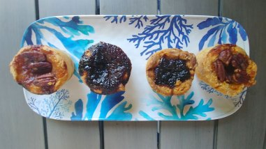 Platter of pecan and raisin Butter tarts from Williamsford