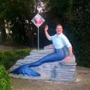 Nick Kulnies becomes a mermaid at Weeki Wachee