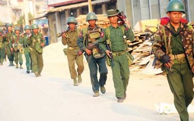 Hundreds of military deployed at Buthidaung, Maungdaw township of Rakhine state: Tatmadaw surrounds a Rohingya Village