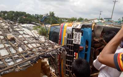 Two Rohingyas dies in a truck incident at Kutupalong camp