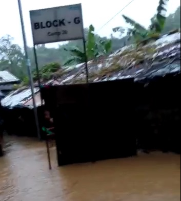 Monsoon rain hits again: Refugees are in vulnerable state