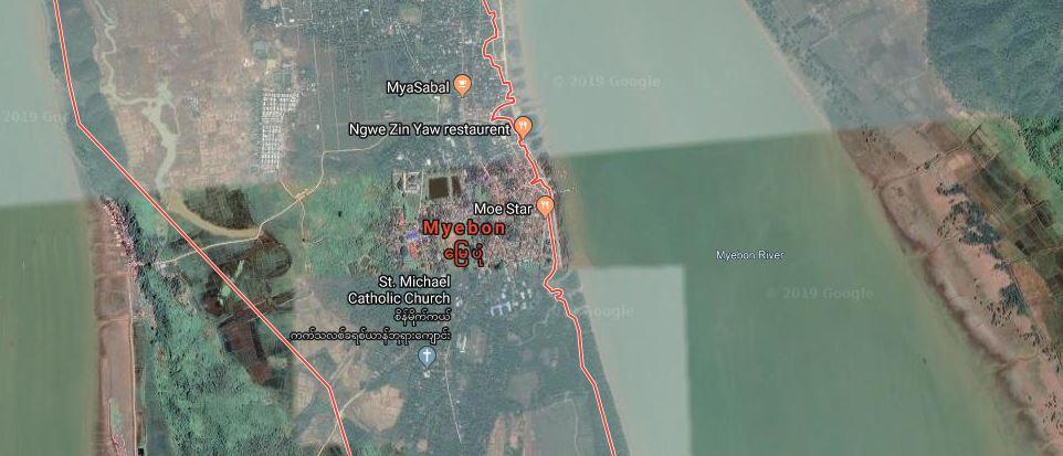 Big explosion near Rohingya village