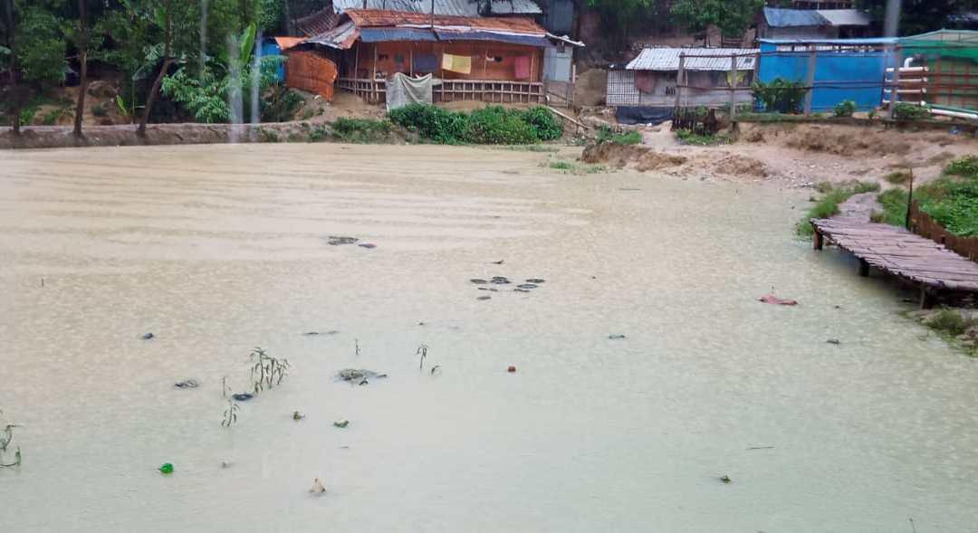 Landslides and flooding risk in the Rohingya Refugee camp