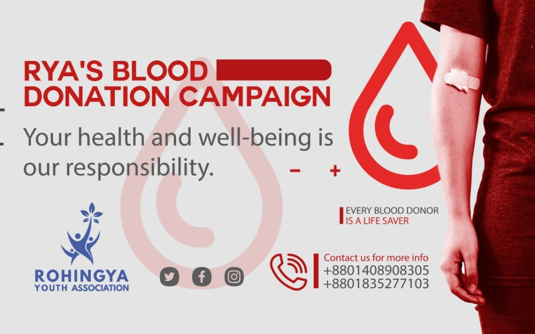 Rohingya youths start a blood donation campaign in the refugee camps of Cox's Bazar