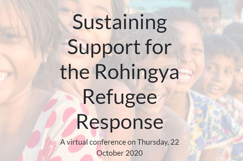 Virtual International donor conference to be held to raise humanitarian aid for the Rohingyas