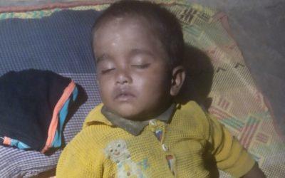 A child was found in Rohingya refugee camp, Tankhali camp 14