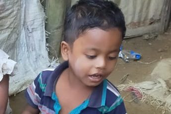 A young child was found in Kutupalong camp 7