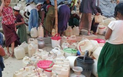 Severe water shortage in Unchiparang Rohingya Refugee camp