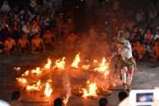 Hanuman burning lanka.. An episode in Kecak dance performance