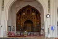 The mihrab here is gorgeously painted.