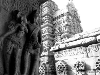 Mithuna(Dampati) or gracious couple sculpture on Mallikarjuna temple