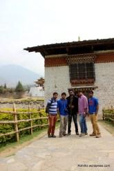 RorBoyz at the entrance of the Punakha Dzong.