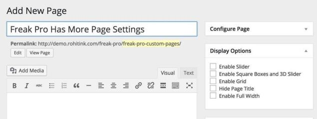 more page settings