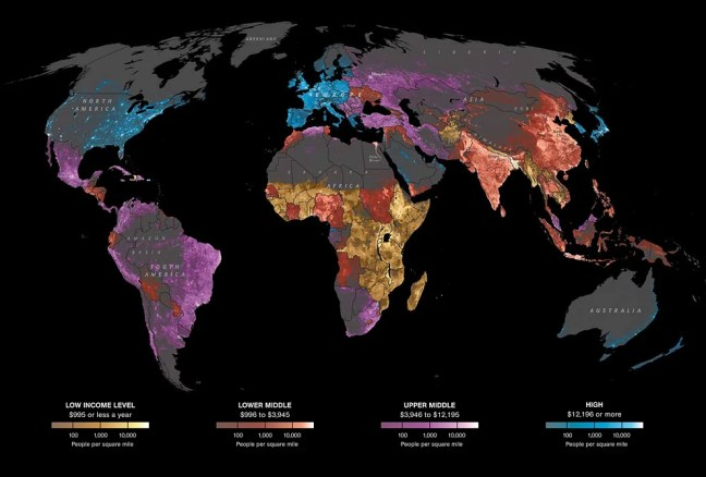 World population and per capita income