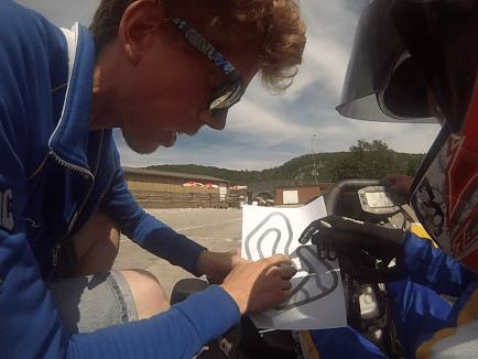 L'école de karting en pleine action