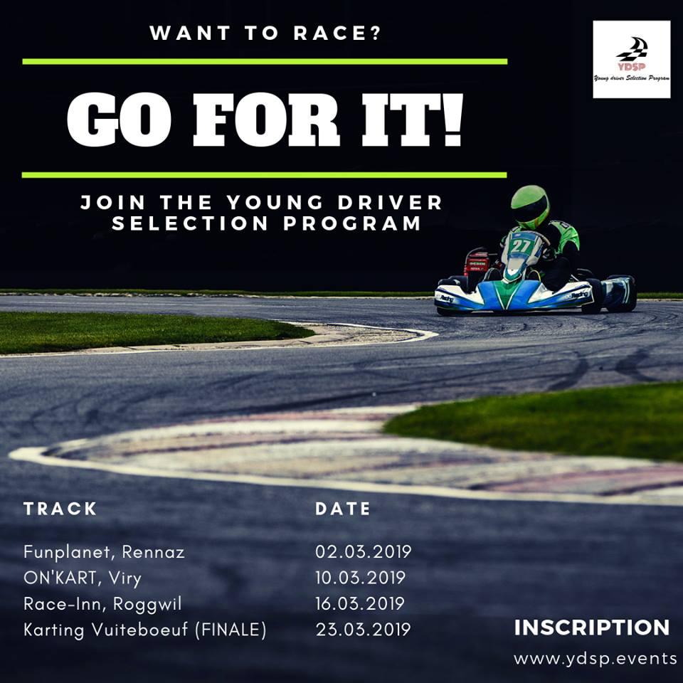 Affiche du Young Driver Selection Program