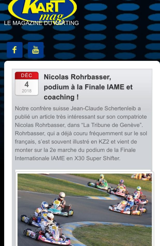 Kart Mag rencontre avec Nicolas Rohrbasser coach karting à la Rohrbasser Driving School