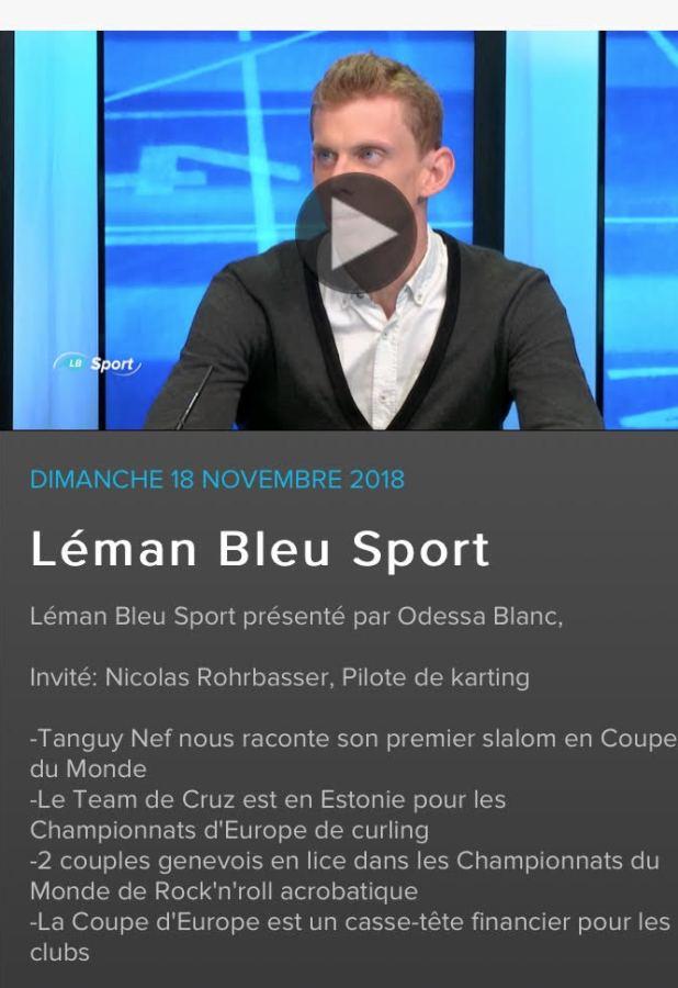 Rencontre avec Nicolas Rohrbasser, coach karting, sur Léman Bleu