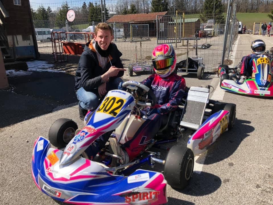 Nathan Neuhaus avec le coach Nicolas Rohrbasser