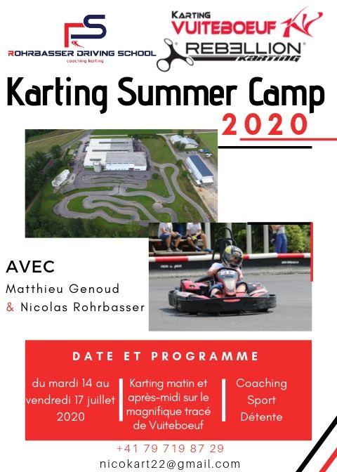 Camp de karting été 2020 au karting vuiteboeuf