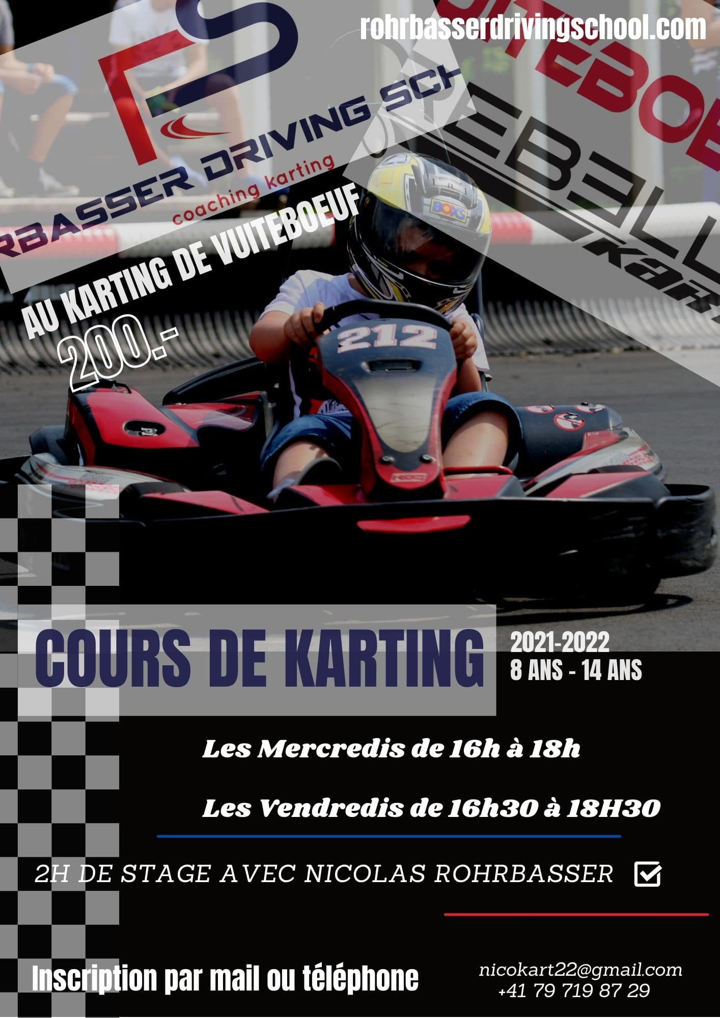 Cours de karting pour enfants et ados