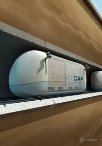Use of pneumatic tubes in research project cargo cap