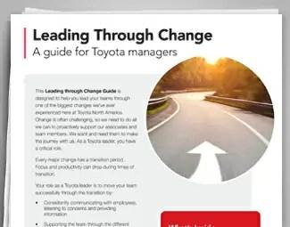 Toyota - Transformation & Culture Change image box 2