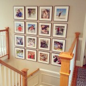 needham stairway gallery wall